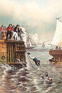 MARRYAT, FREDERICK - Stuurman Flink of de schipbreuk van 'De Vrede'. Een verhaal voor de jeugd. Naar het Engelsch van Kapitein Marryat door J.J.A. Goeverneur.
