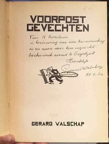 BOEKENWEEK 1964. WALSCHAP, Gerard - Voorpostgevechten.