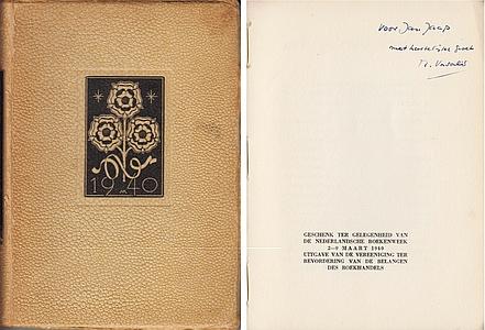 BOEKENWEEK 1940. VASALIS e.a., M. - Drie novellen. (Met een inleiding van Emmy van Lokhorst en Victor van Vriesland).