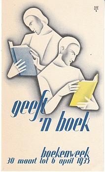 BOEKENWEEK 1935 - Boekenweekzegel 1935 ('geeft 'n boek').